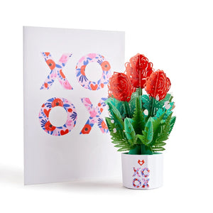 Lovepop XOXO Card with 3D Mini Bouquet