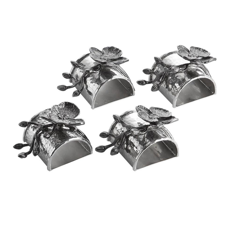 Black Orchid Napkin Ring Set, , Home, Michael Aram, D'Amore Jewelers