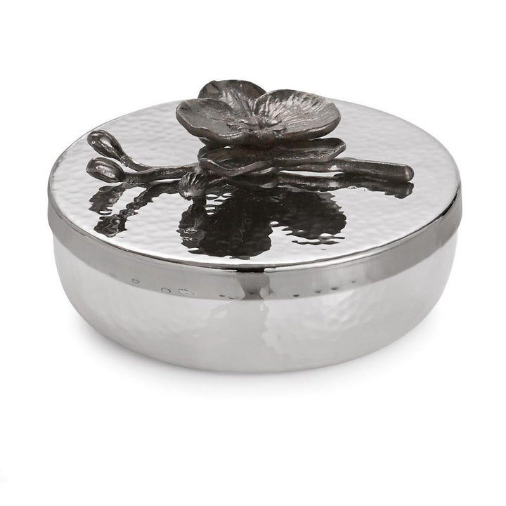 Black Orchid Round Trinket Box, , Home, Michael Aram, D'Amore Jewelers
