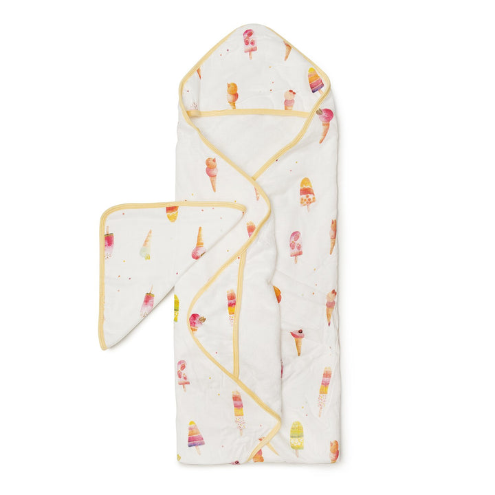 HOODED TOWEL SET - ICE CREAM