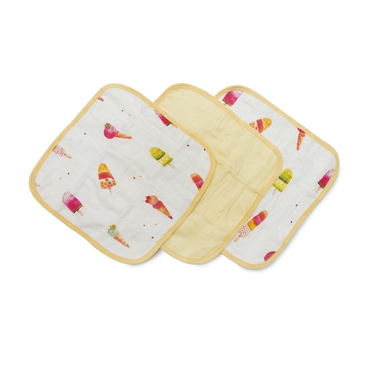WASHCLOTH 3-PIECES SET - ICE CREAM