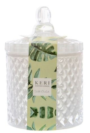 Scented Jar Candle Delight Wild Orchid (8.5x13cmH)