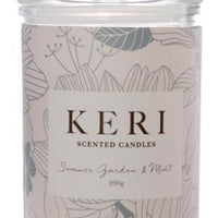 Scented Jar Candle Eden Summer Garden & Mint 270g (8x15cmH)