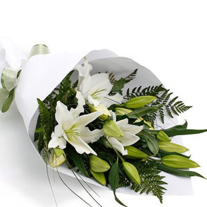 White Lilly Bouquet