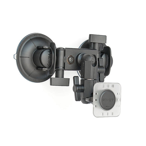 PIVOT Double Suction Cup Mount - 0.75-inch Ball Arm