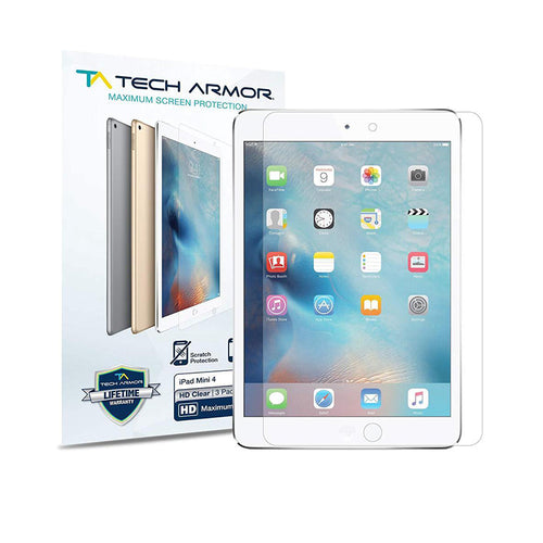 Tech Armor Matte Anti-Glare Screen Protector for Apple iPad Mini (5th gen.) & iPad Mini 4 [2-Pack]