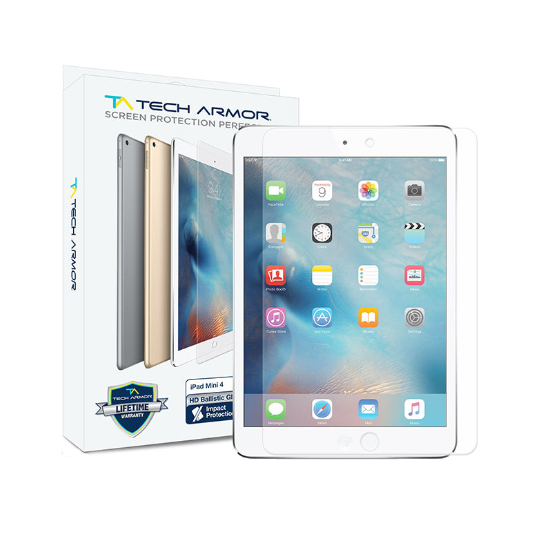 Tech Armor Ballistic Glass Screen Protector for iPad Mini 4 & iPad Mini (5th gen.) - [1-Pack] (Back Ordered)