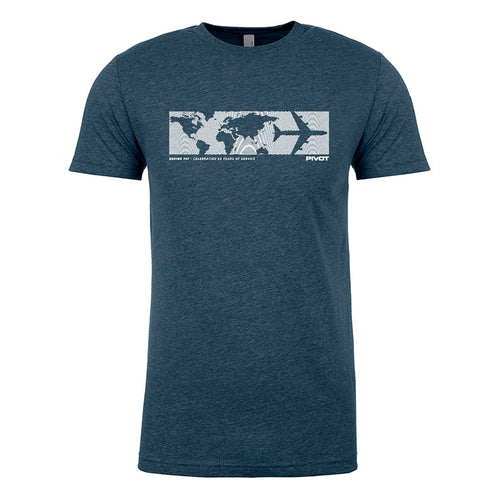 PIVOT World Map Boeing 747 Tribute Tee