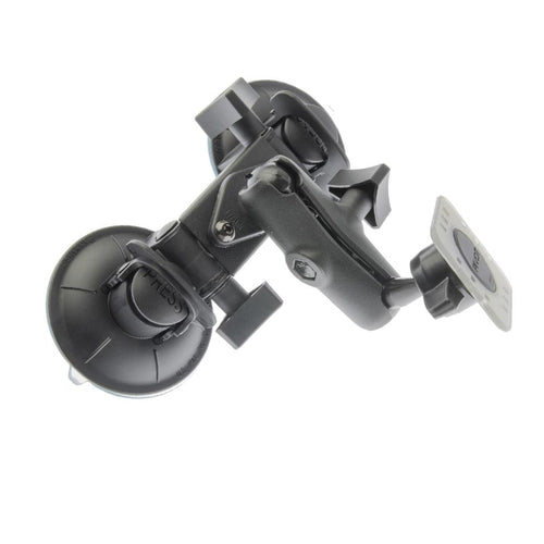 PIVOT Double Suction Cup Mount - 1-inch Ball Arm