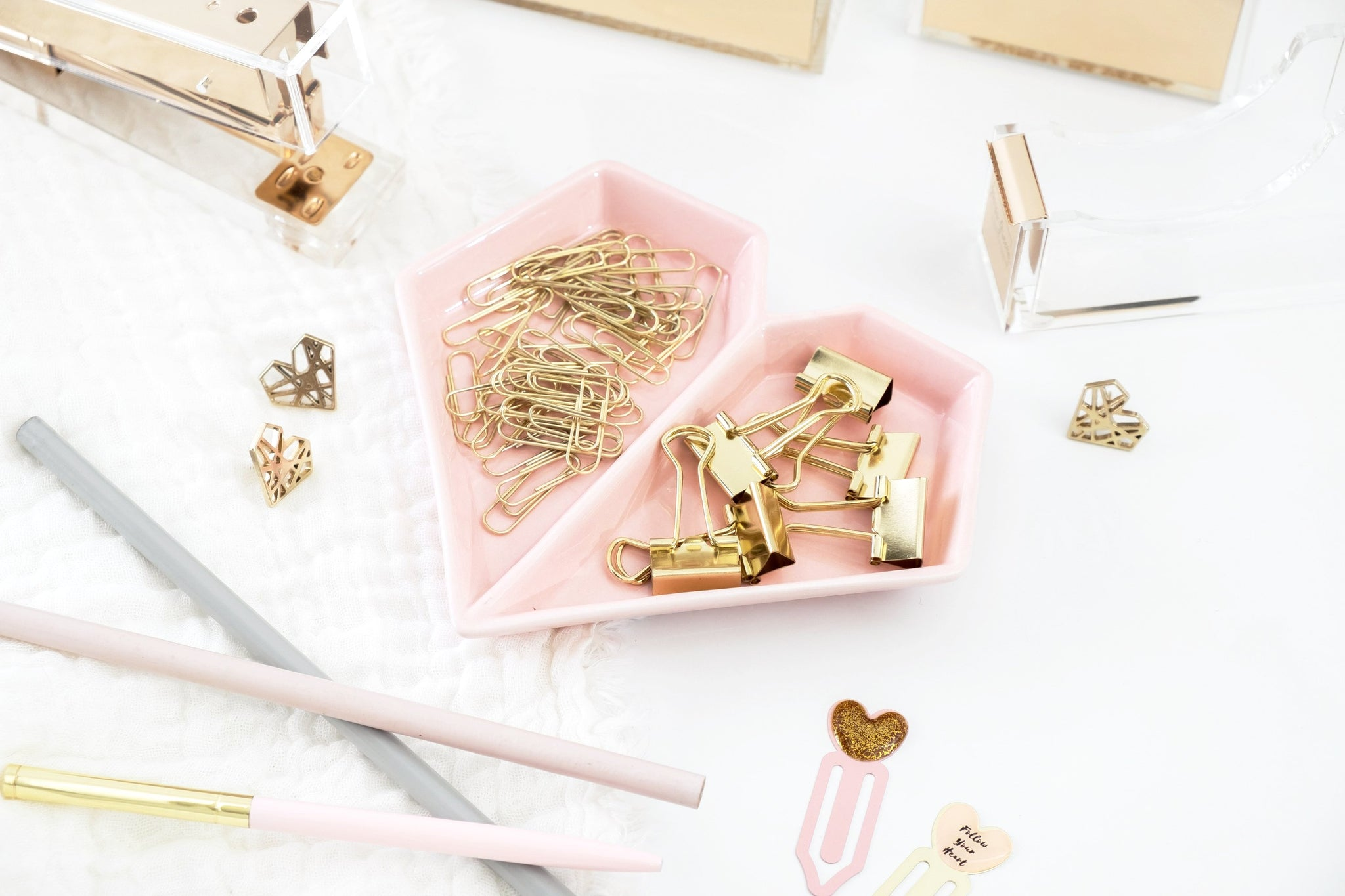 Heart Desk Accessories Set