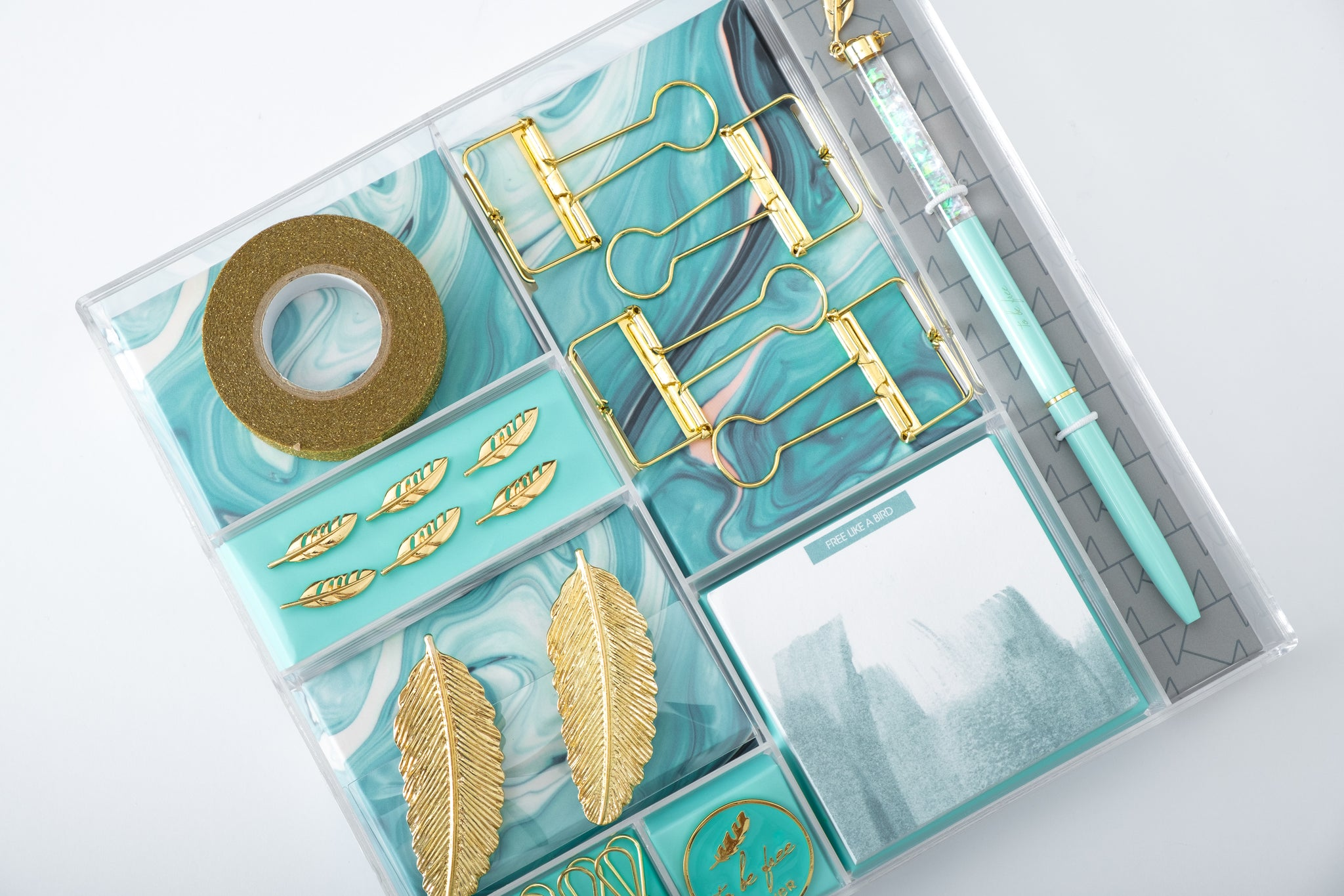 Aqua Stationery Set