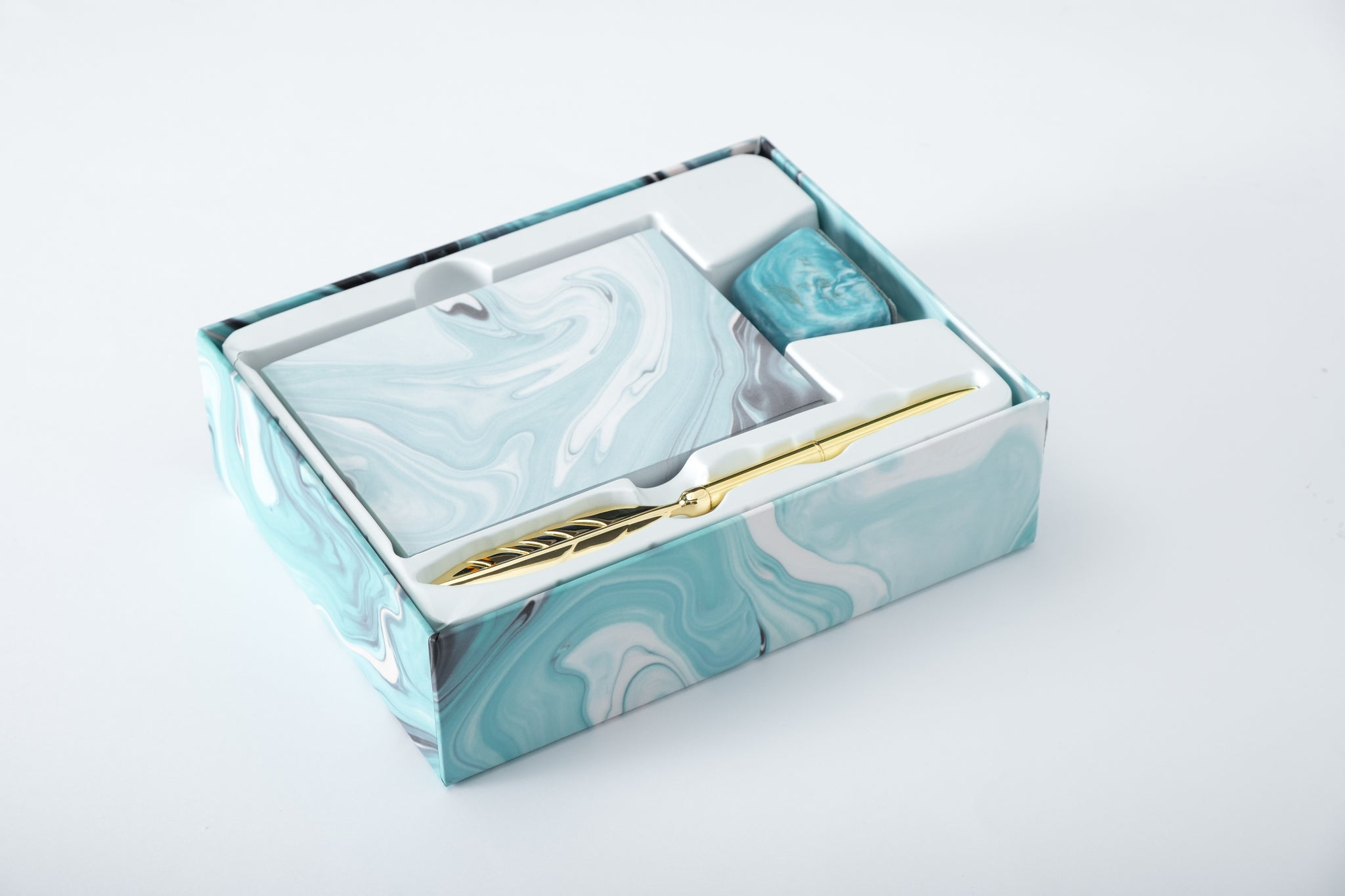 Aqua Marble Journal Set