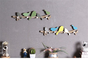 Wooden Bird Wall Hanger - Dress My Desk