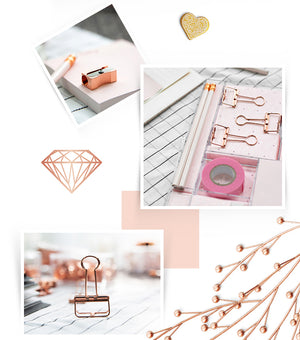 Rose Gold Stationery - Dress My Desk