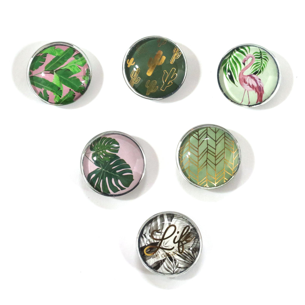Tropical Glass Magnets