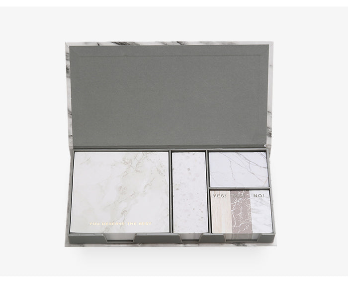 Marble Sticky Notes Set With Sticker Box