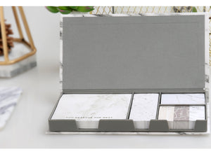 Marble Sticky Notes Set With Sticker Box - Dress My Desk