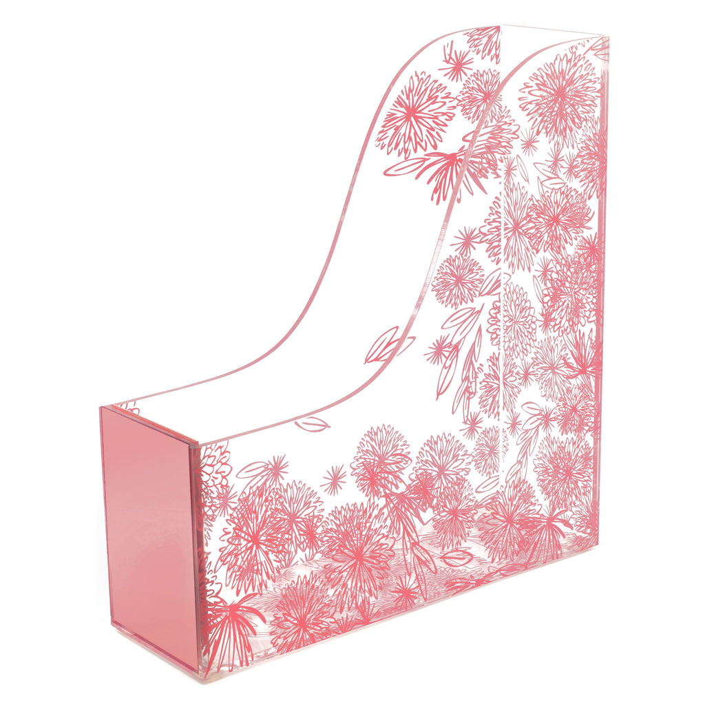 Rose Gold Floral Magazine Holder