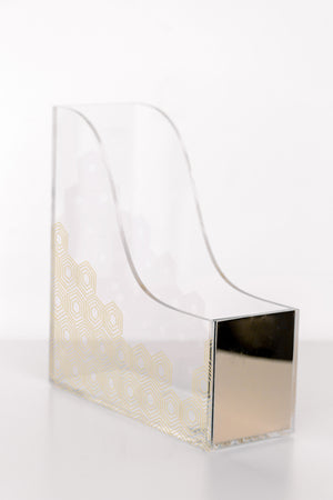 Gold Art Deco Magazine Holder