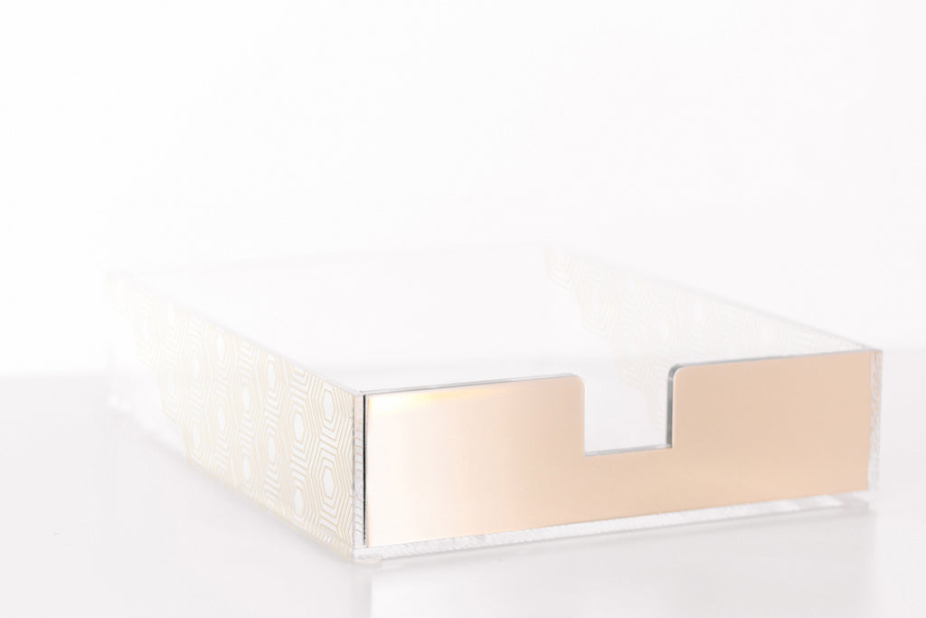 Gold Art Deco Paper Tray