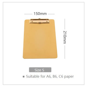 Luxury Gold Clipboard - Dress My Desk
