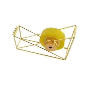 Glam Wire Tape Dispenser in Gold and Rose Gold - Dress My Desk