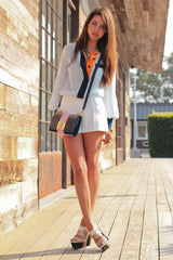 Claudine Colorblocked Shirtdress