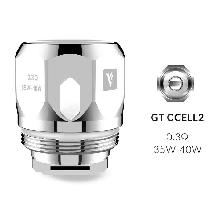 Vaporesso GT CCELL 2 0.3ohm Replacement Coils Pack of 3)