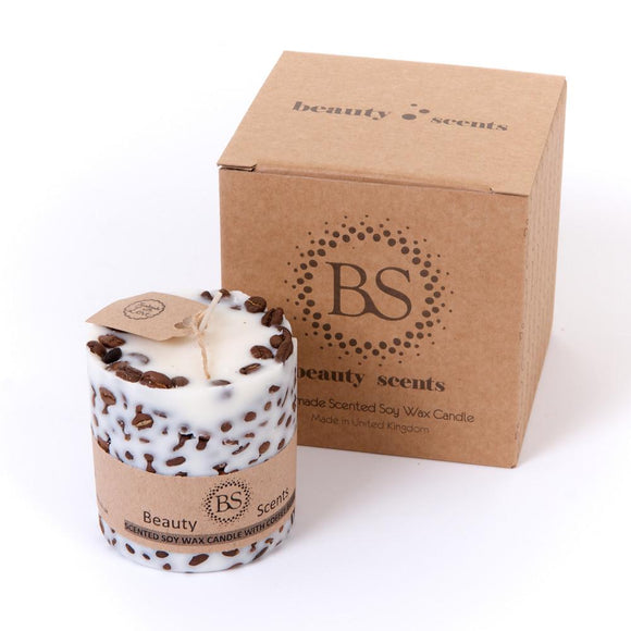 Medium Scented Soy Wax  Candle With Coffee Beans box of 6