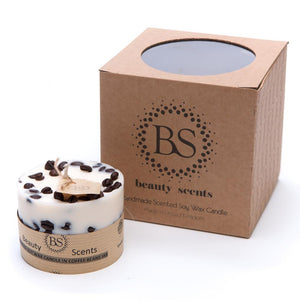 Small Scented Soy Wax  Candle With Coffee Beans box of 6