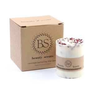 Medium Scented Soy Wax  Candle With Rose Petals box of 6