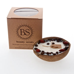 Scented  Soy Candle In Coconut Shell box of 6