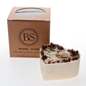Large Heart Shape Scented Candles With Star Anise & Red Berries box of 6
