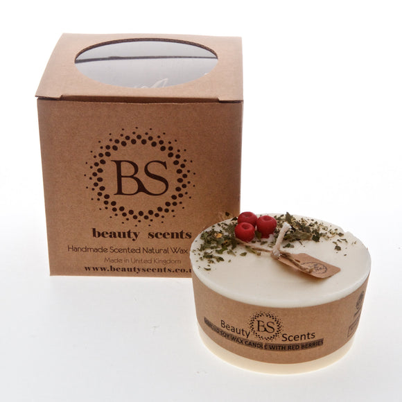 Medium low Scented Soy Candle With Red Berries box of 6