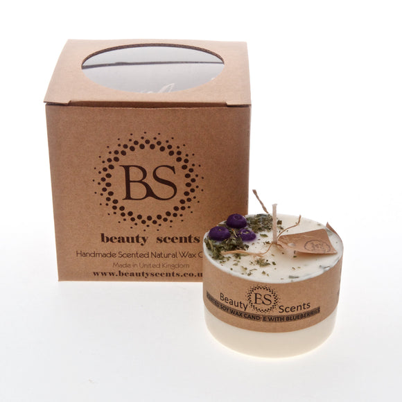 Small Scented Soy Candle With Blueberries box of 6