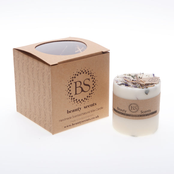 Medium Scented Soy Wax  Candle With Wild Flowers box of 6