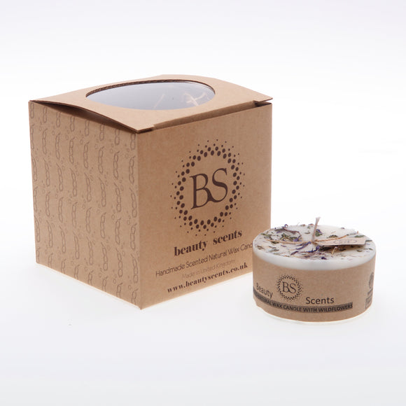 Small Scented Soy Wax  Candle With Wild Flowers box of 6