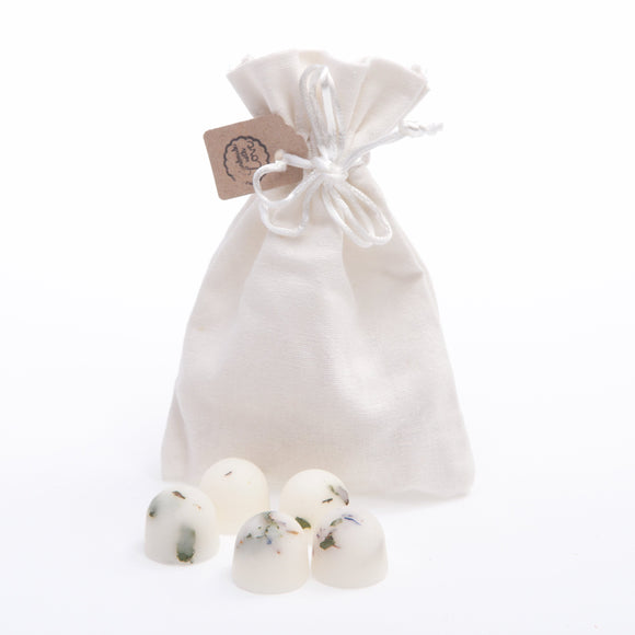 Scented Natural Wax Melts in Linen Bag of 10 each