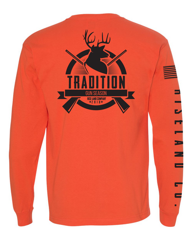 TRADITION -  USA-Made 100% Cotton Long Sleeve T-Shirt