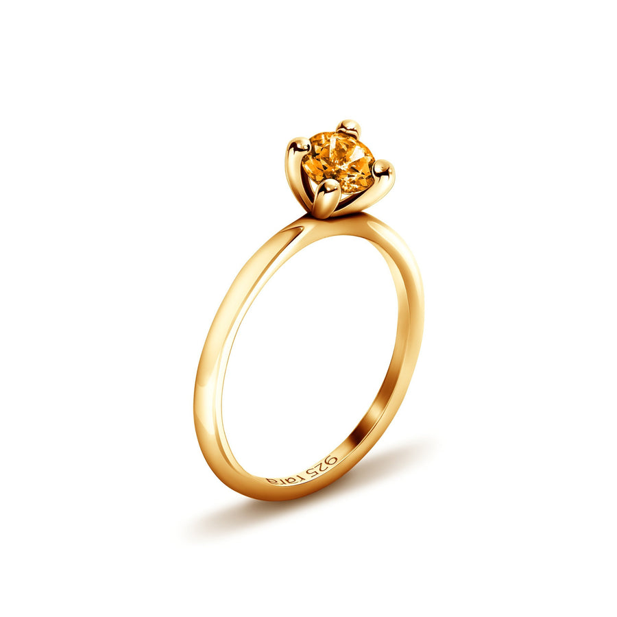 Golden Plain Stacking Ring