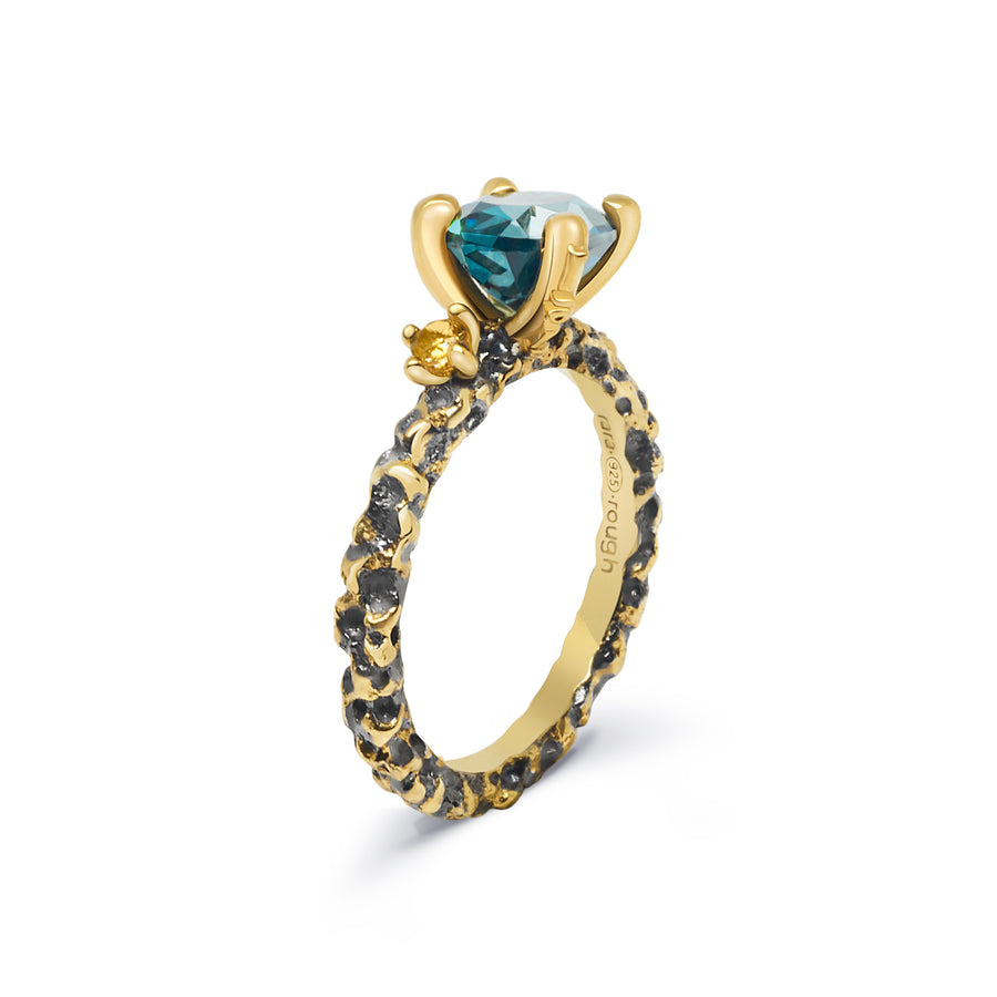 Sierra Unique Ring with Blue Topaz & Citrine