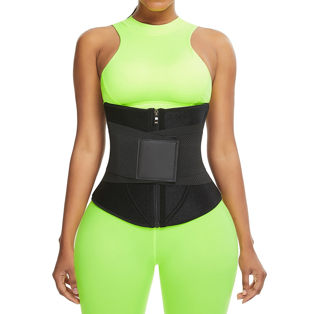 POWER WAVY Neoprene Sweat Embossed Waist Trainer Belt Weight Loss Cincher - Valusu