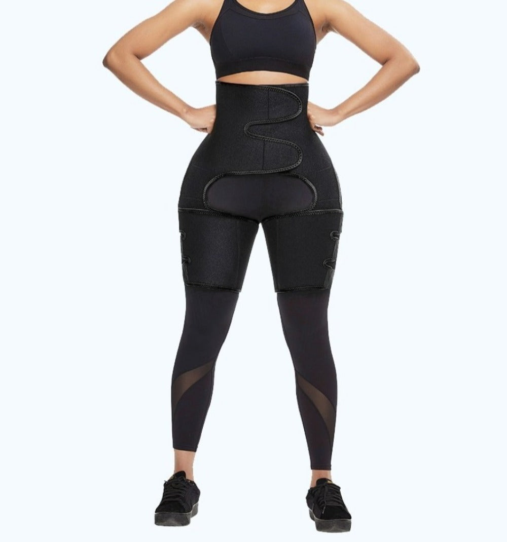 3-in-1 Butt Lifter, Waist Trainer & Thigh Trimmer, Waist Trainer Shaping Neoprene Thigh Shaper High Waist Ultra Light Thigh Trimmer Butt Lifter Shapewear and Hips Belt - Valusu