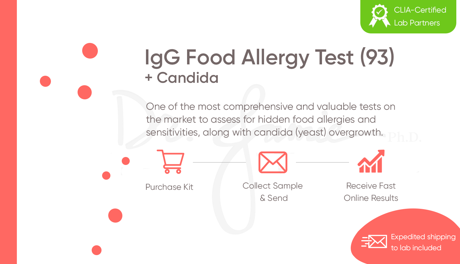 IgG Food Allergy Test (190) with Candida + Yeast