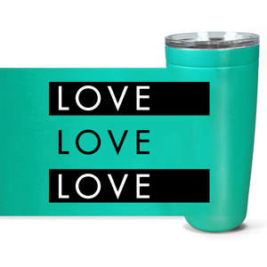 Love Love Love 20 oz Tumbler - gobelight shop