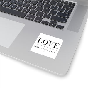Love Over square sticker - gobelight shop