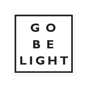 Go Be Light  bubble free stickers - gobelight shop