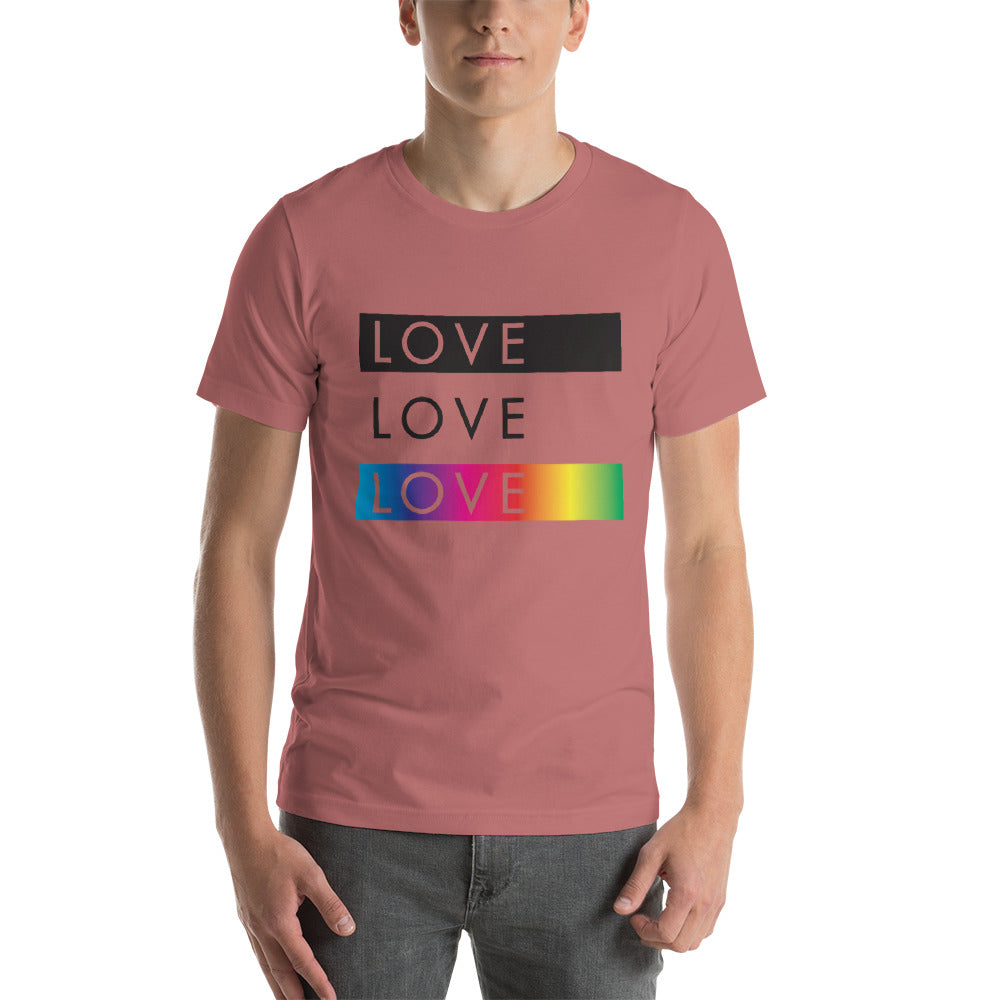 Love Love Love Short-Sleeve Unisex T-Shirt - gobelight shop