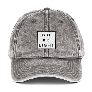 Go Be Light Vintage Cotton Twill Cap - gobelight shop