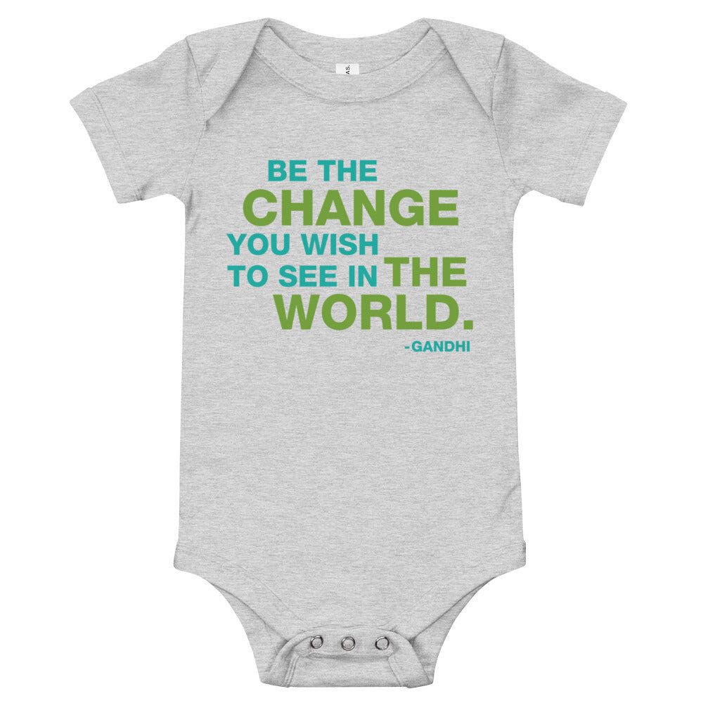 Baby Be the Change Onesie - gobelight shop